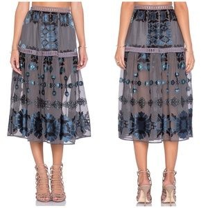 For Love & Lemons Barcelona Midi Skirt